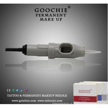 Cartucho descartável agulha de tatuagem, maquiagem definitiva agulhas