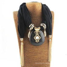 Dernières femmes infini pendentif embelli bijoux écharpe avec pendentif