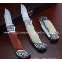 Couteau domestique à poignée en bois de 7,2 po (SE-102)