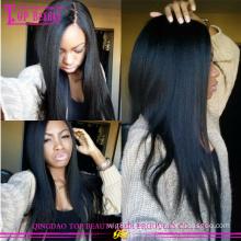 Barato brasileiro 100% top de seda peruca de cabelo humano glueless peruca dianteira do laço com parte superior de seda