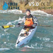 5.0m 1 persona sentarse en el kayak de pedal profesional para recorridos largos