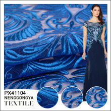 Made in China classical tule azul moda allover bordado design