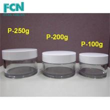 200ml cosméticos de plástico recipiente de recipiente embalagem de creme de cosméticos Taiwan