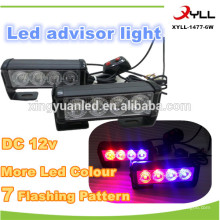 8w new product led flashing roof light bar,4x4 offroad and emergency led light bar,6w mini led dash light