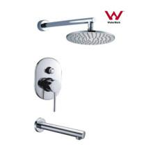 Mezclador redondo de la ducha del grifo del cuarto de baño del diseño moderno (CP-F0420-1)