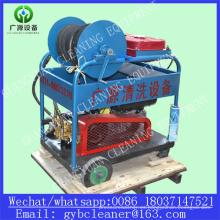Sistema de limpieza de alta presión del chorro de agua de la máquina de la limpieza del tubo de alcantarillado de 24HP