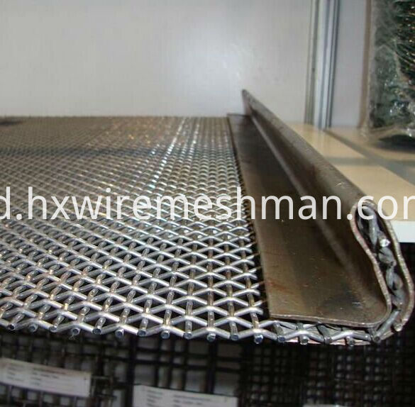 crimped wire screen with hook