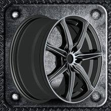 Alloy Wheel Black wheel spoke