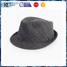 Fábrica de venda directa tipos de design simples do chapéu dos homens com boa oferta