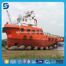 Airbag marin en caoutchouc de fournisseur de la Chine pour le lancement de lancement lourd de bateau
