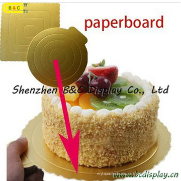 Customzied Nützliche Mini mit Gold Farbe Kuchenplatte mit FDA, SGS (B & C-K046)