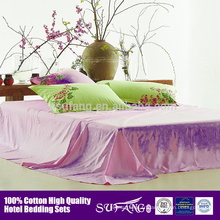 La couverture qui respecte l'environnement de couette de coton d'hôtel, couvertures de literie ont placé la taille de reine