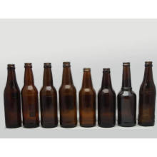 Bouteille de bière en verre ambre en gros