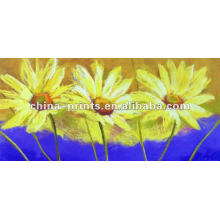 Hot Venda Handmade lona flor pintura a óleo