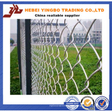 PVC-überzogener galvanisierter Kettenglied-Zaun für Baseball-Feld