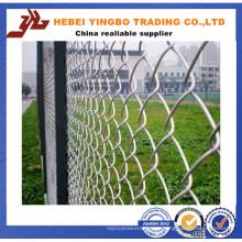 Valla de enlace de cadena galvanizada recubierta de PVC para campo de béisbol