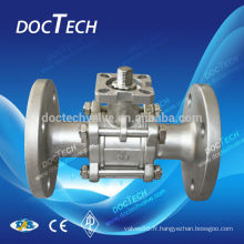 2-PC Ball Valve bride fin passage intégral Iso montage Pad Jis 10K