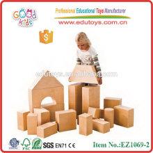 Good Kids Big Natural Preschool Wooden Real Hollow Blocks Jouets scolaires
