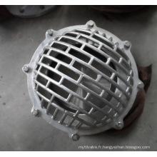 Fin à bride, Pn10, valve de pied en acier inoxydable de 12 po