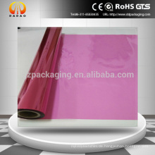 Hochwertige transparente rote Farbe PET Plastikfolie für Glas dekorative Folie