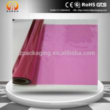 Высококачественная прозрачная красная ПЭТ-пластиковая пленка для стеклянной декоративной пленки