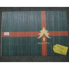 (BC-M1039) Handmade Natural Bamboo Rectangle Heat Insulation Placemat
