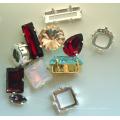 Cristal de cristal de lujo de joyería de piedra y accesorios de vestir (3001-3022)