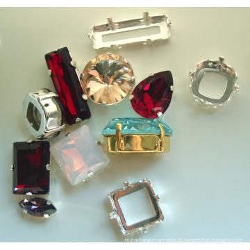 Cristal de vidro Fancy Stone jóias e acessórios de vestuário (3001-3022)