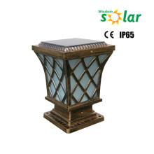 Aluminum trellis main gate post lights / solar post lights for garden lighting/ main gate lights for outdoor lighting