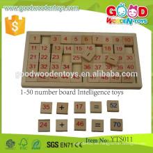 Juguetes de aprendizaje de matemáticas de madera de preescolar