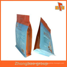 Embalaje de alimentos de aluminio impreso personalizado bolsa de nylon con agujero