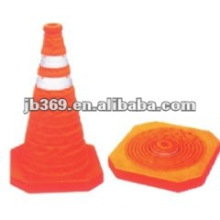 ABS base retractable traffic cone