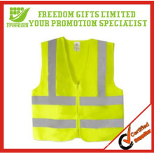 O logotipo relativo à promoção imprimiu a veste reflexiva da segurança alta da visibilidade
