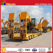 China Manufacturer Heavy Machine Excavator Low Bed Trailer
