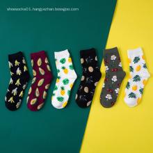 Korean Harajuku Fresh Fruits men women Cotton Socks cute Funny Animal Flamingos Lemon Avocado sushi Kawaii Ankle Socks