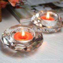 À Venda / Promoção-US $ 1: Suporte de Vela de Cristal em Forma de Coração / Titular Tealight Para Decoração de Casa & Presente CH-M021