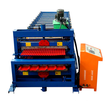1000-1000 Double glazed tile roll forming machine