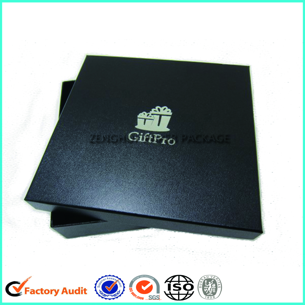 Custom Printed Logo Black Shirt Packaging Box