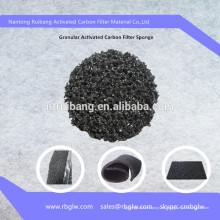 esponja de filtro de gránulo de carbón activo