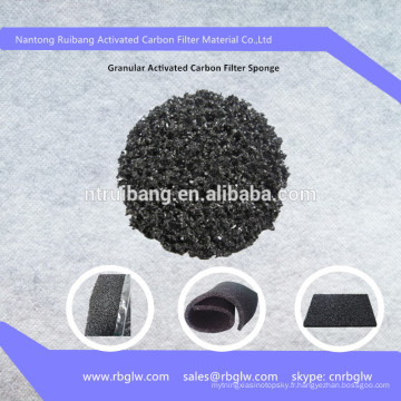 Fibre de mousse de charbon actif granulaire