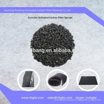 Гранулированный Активированный Уголь Пены Волокна
