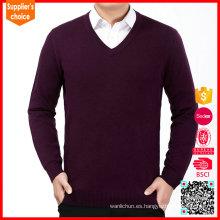 2017 Nuevo suéter de cachemira mongol del cuello de los cardigans v de la cachemira del mens