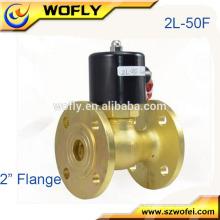 Hochtemperatur-Flanschanschluss 2/2 Wege Messing-Dampf-Magnetventil
