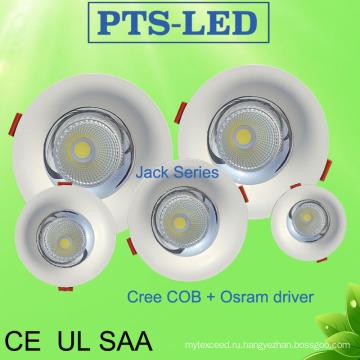 5W-50W CREE чип Philips, Osram водитель кривой лица Embeded светодиодный светильник с UL SAA