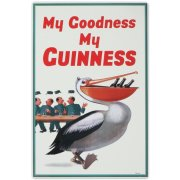 My Goodness Beer Pelican Tin Sign