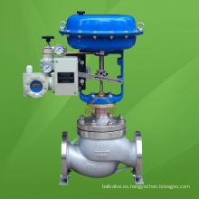 Válvula de control de presión neumática (HSC) tipo jaula equilibrada