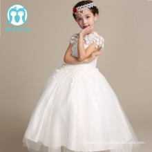 Newest Girls White Princess Dress Fancy Beautiful Little Girls Wedding Flower Dress Party Dresses Hot Sale