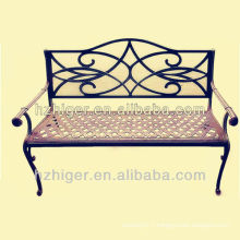 aluminium die casting double bench garden chair