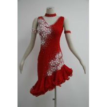 Fringe latin dance dress for girls