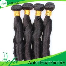 Extensão 100% não processada do cabelo de Remy do cabelo humano do Virgin do produto novo de Aofa